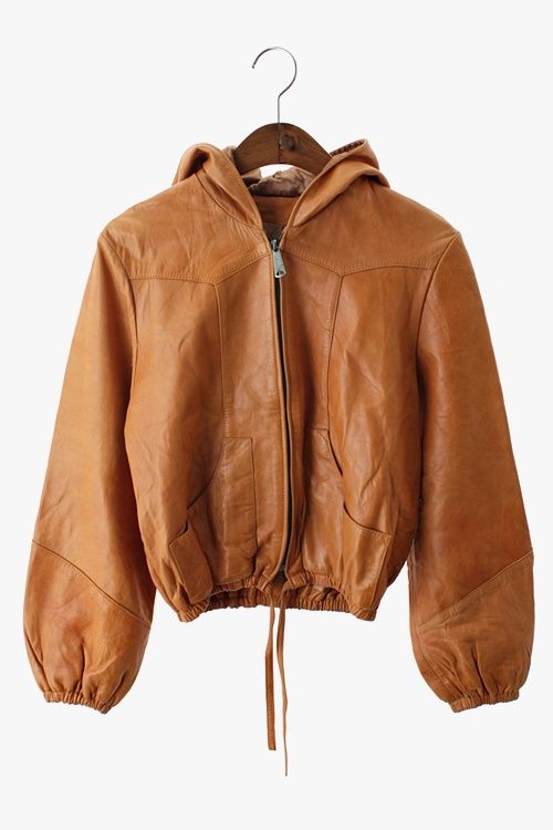 LAMB LEATHER HOODY JACKET 리가먼트