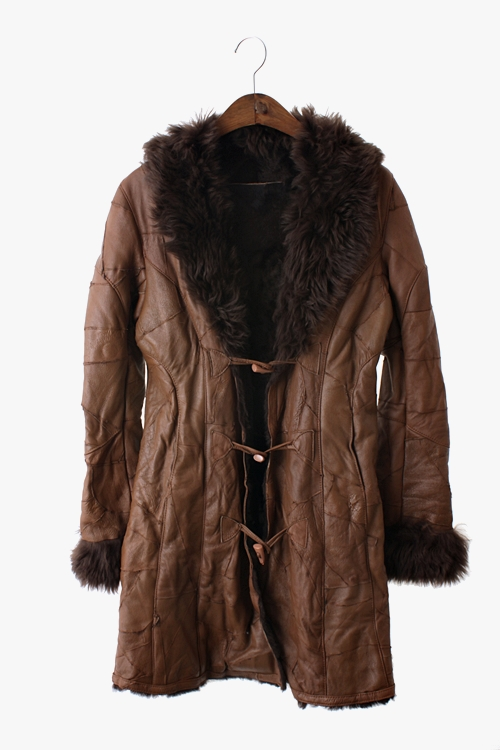 SHEEPSKIN MOUTON LEATHER COAT 리가먼트