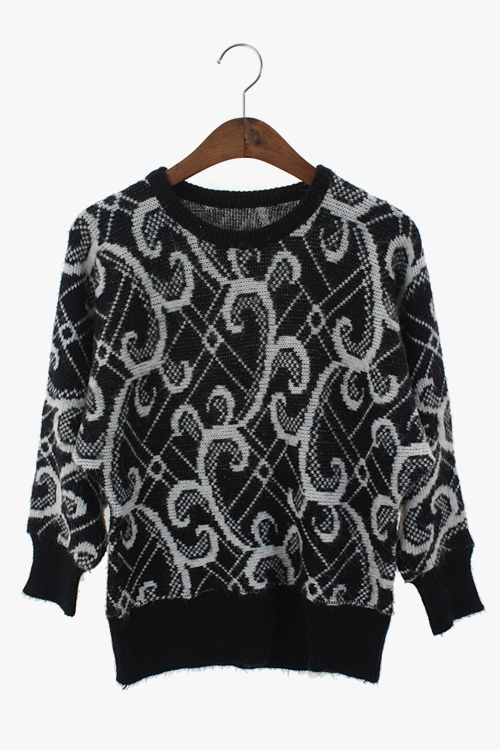 WOOLEN PATTERN KNIT 리가먼트